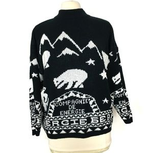 Vintage Polar Bear Christmas Sweater Energie Bear